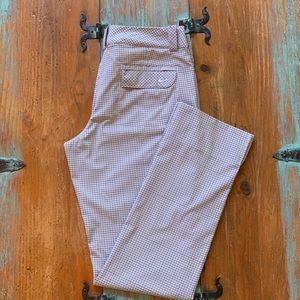 Woman's Nike Golf Pants. Fun Plaid. Dri-Fit. Sz. 6